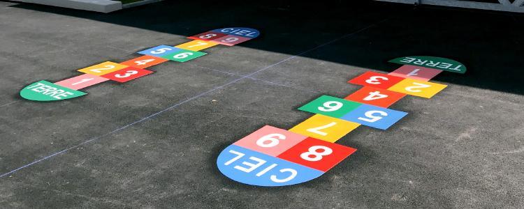 Des jeux pour enfant à l'école Simone Veil