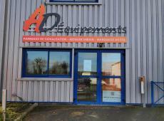 Enseigne et bandeau pour l'entreprise AD Équipements (14)