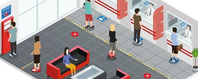 Stickers de sécurité : protégez facilement vos distances sociales